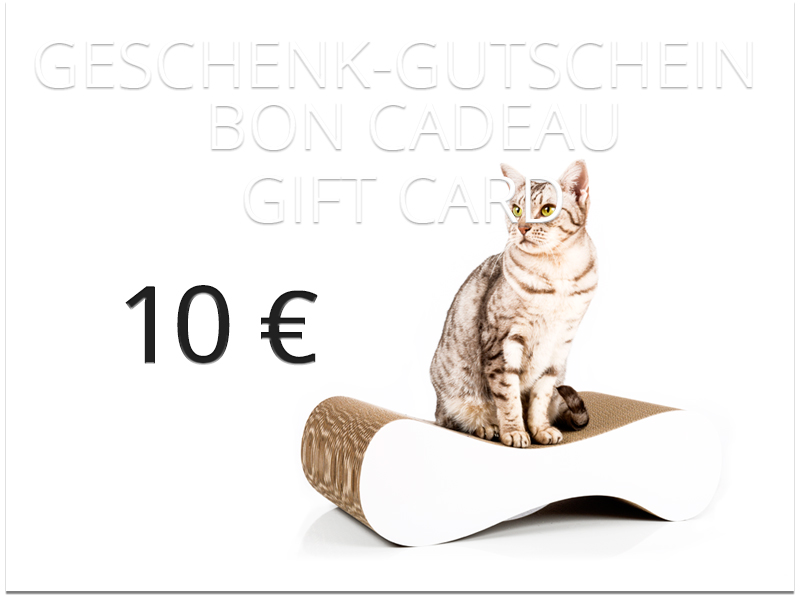 cat-on gift card - value: 10,00 € | cardboard cat scratchers