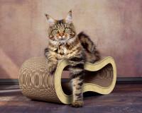 Vorschau: Design Katzenmöbel aus Kratzpappe Singha M - Farbe: sand 005