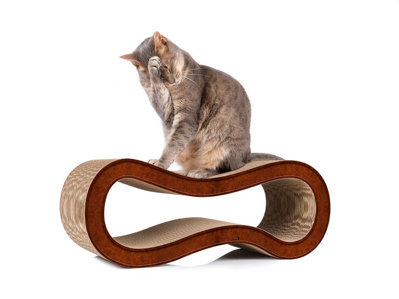 cat-on Singha M - Katzenmöbel zum Kratzen aus Kratzpappe