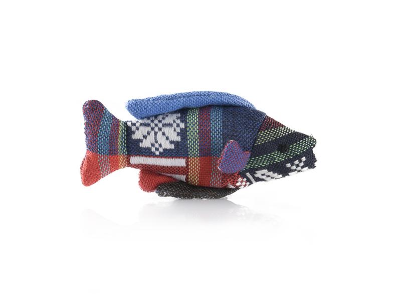 Spielzeug für Katzen Baumwollfisch mit Füllung aus Baldrian | Katzenspielzeug | cat-on