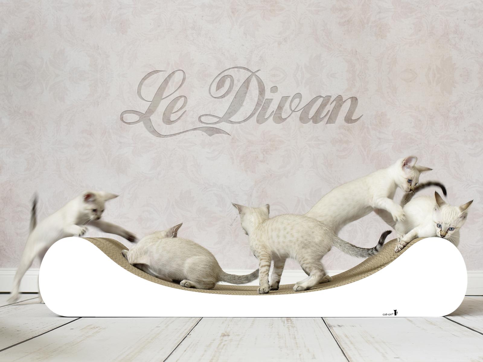 Katzenliege Le Divan in gestrichen weiß - Farbe: 000x