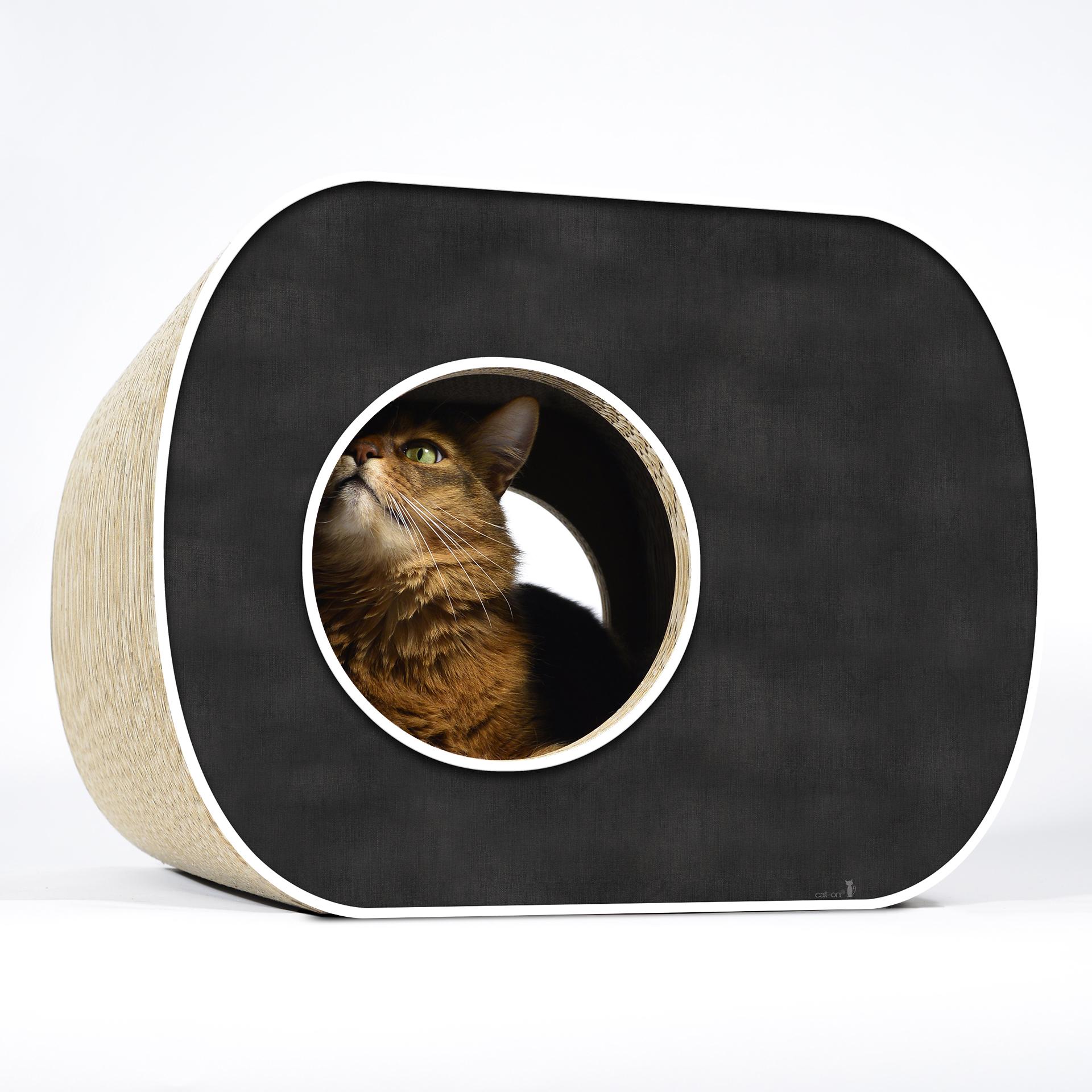 Design cat tree Brochhaus Junior - 000g - black, white rims