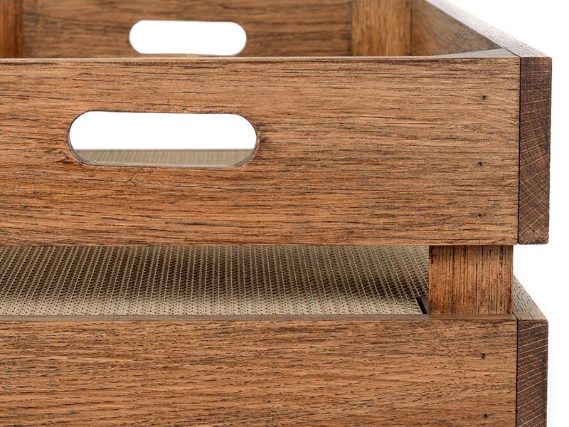 Kratzkiste aus Holz mit Kratzpappe für Katzen