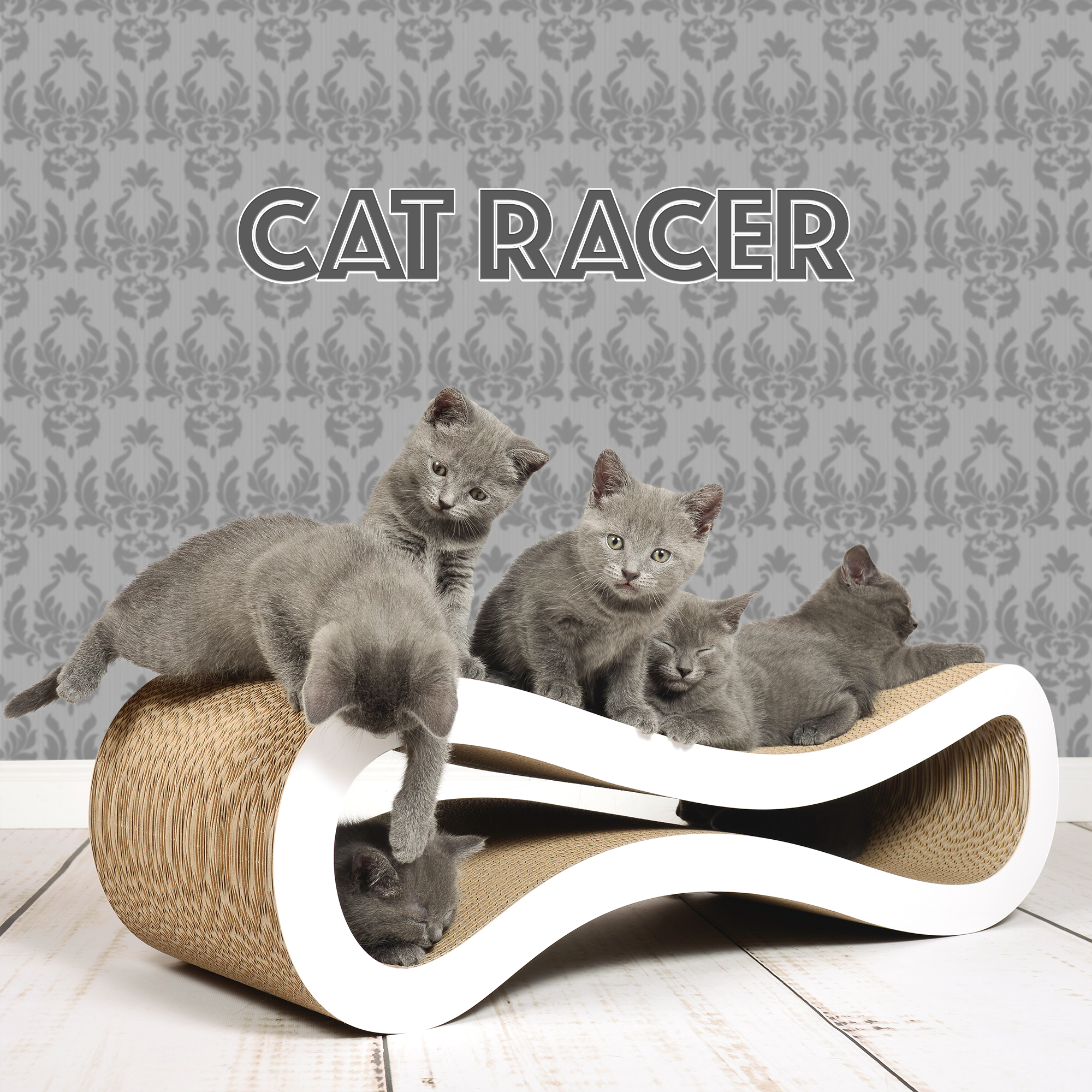 Kratzbaum Cat Racer aus Wellpappe Made in Germany
