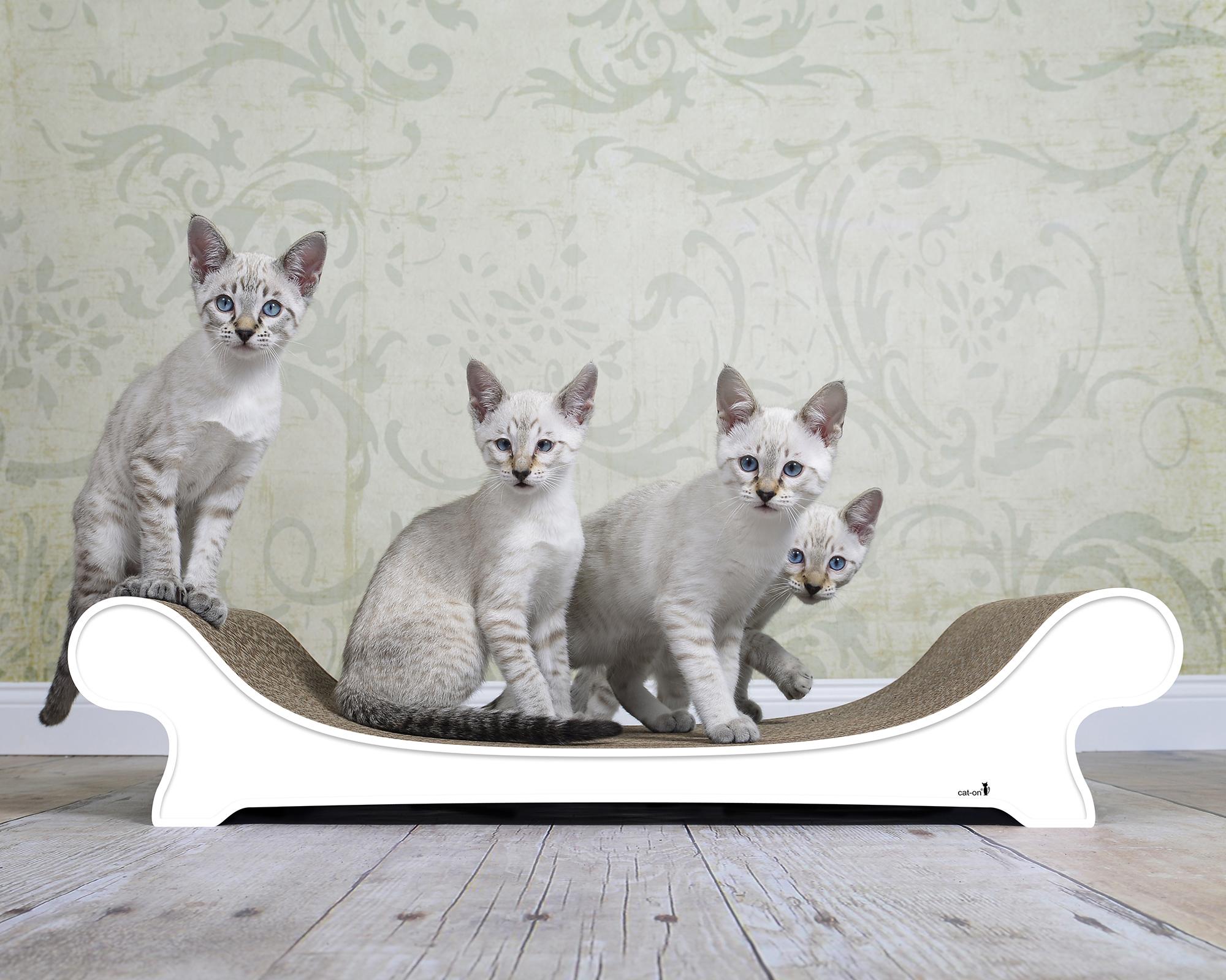 Weißes Kratzmöbel für Katzen Le Canapé - individuell angefertigt