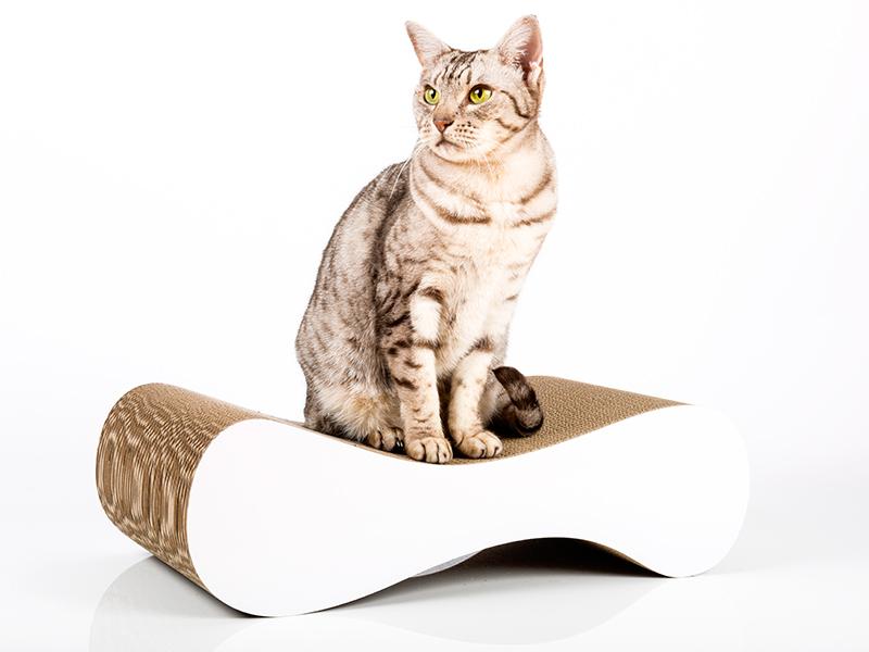 Designer Kratzmöbel in weiß |cat-on Le Ver S
