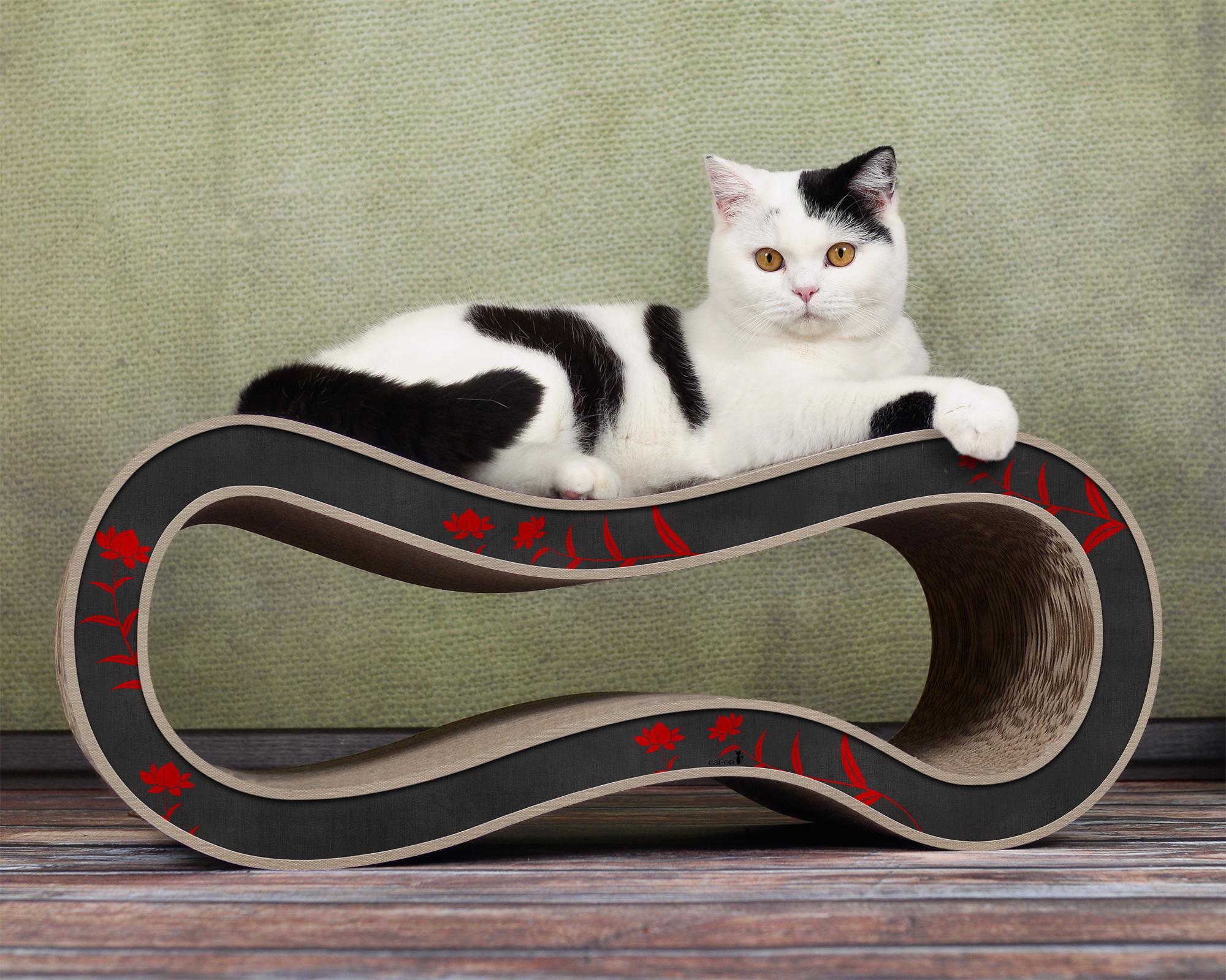 Kratzbaum für Katzen Singha M - Farbe: schwarz-rot-beige 008