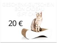 Vorschau: cat-on Geschenkgutschein im Wert von 20,00 € | Katzengeschenke