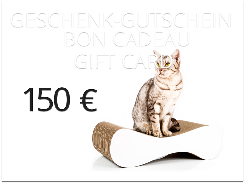 cat-on gift card - value: 150,00 € | handmade cardboard cat furniture