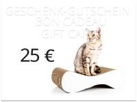 Vorschau: cat-on Geschenkgutschein im Wert von 25,00 € | Katzengeschenke