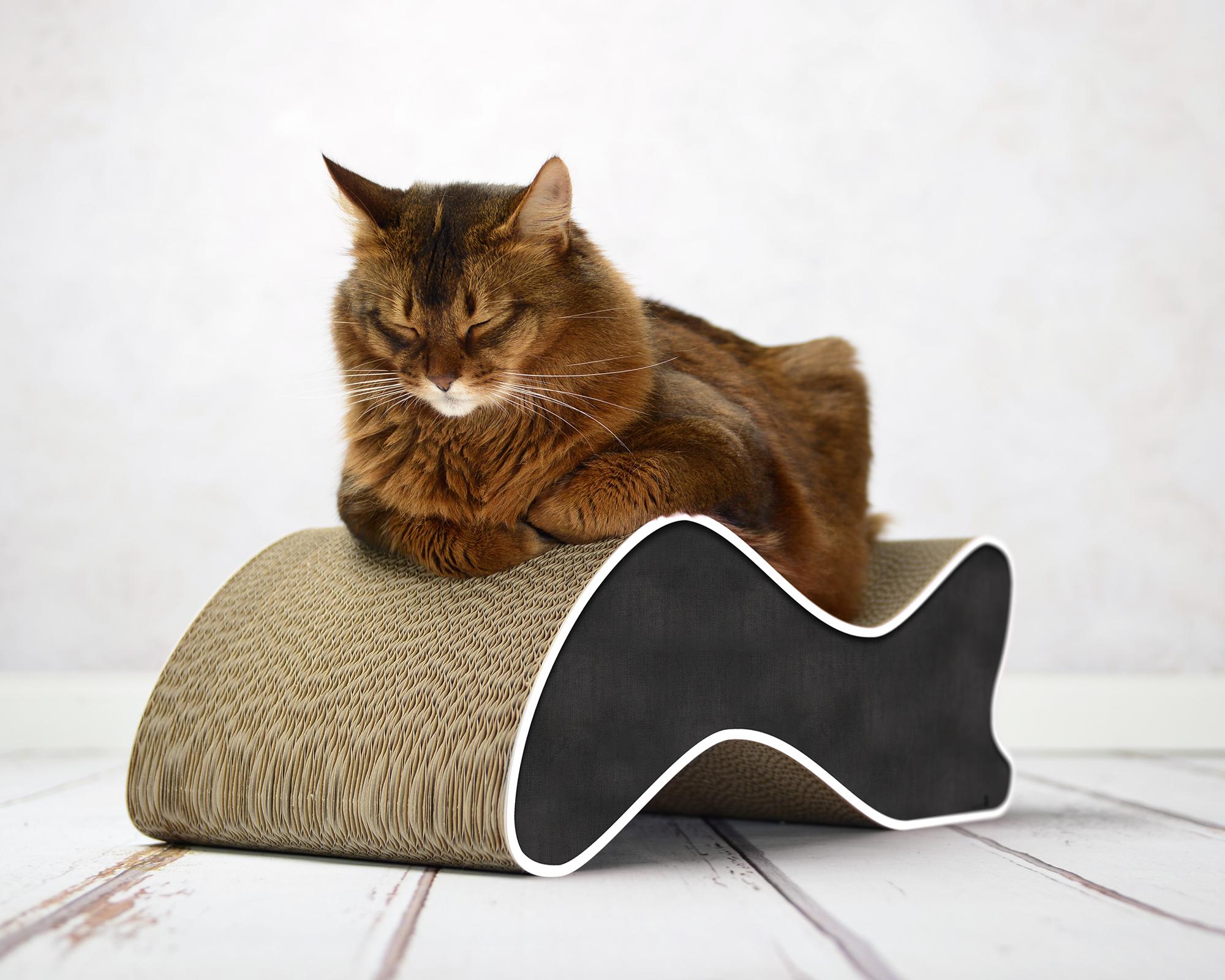 Katzenkratzmöbel Kabou aus fsc-zertifizierter Wellpappe
