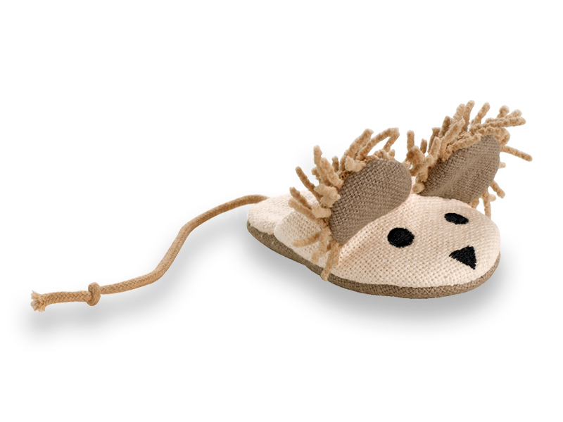 cat toy linen mouse