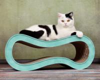 Vorschau: Pappmöbel für Katzen Singha M in türkis 006c