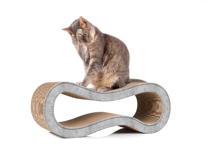 Kratzmöbel aus Wellpappe cat-on Singha M in grau