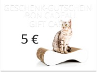 Preview: cat-on gift card - value: 5,00 €