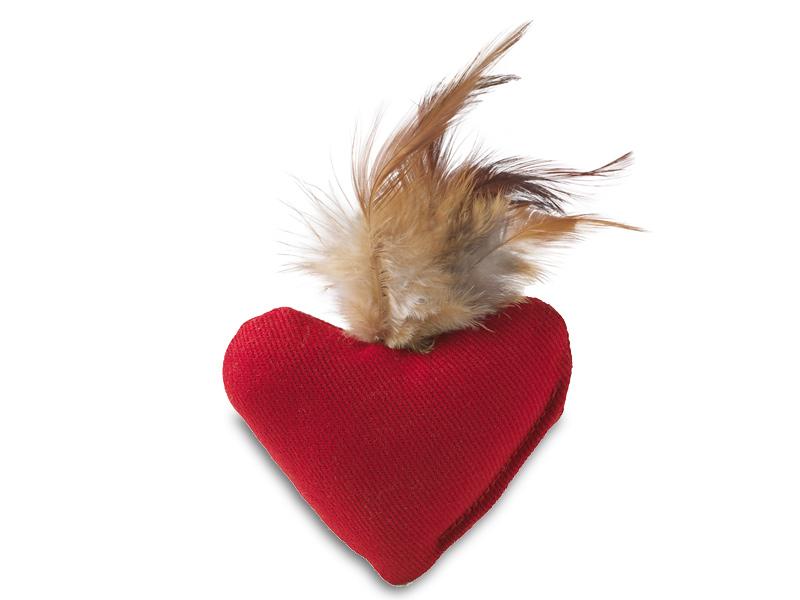 Katzenspielzeug Herz Smart Feather