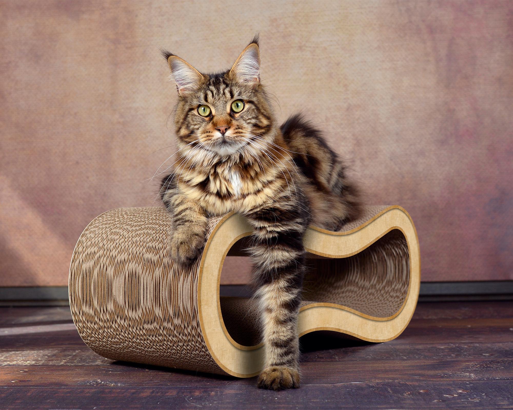 Katzen-Kratzmöbel aus Kratzpappe Singha M in beige
