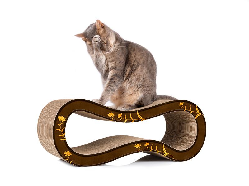 cat-on Singha M - Katzenkratzmöbel aus Wellpappe