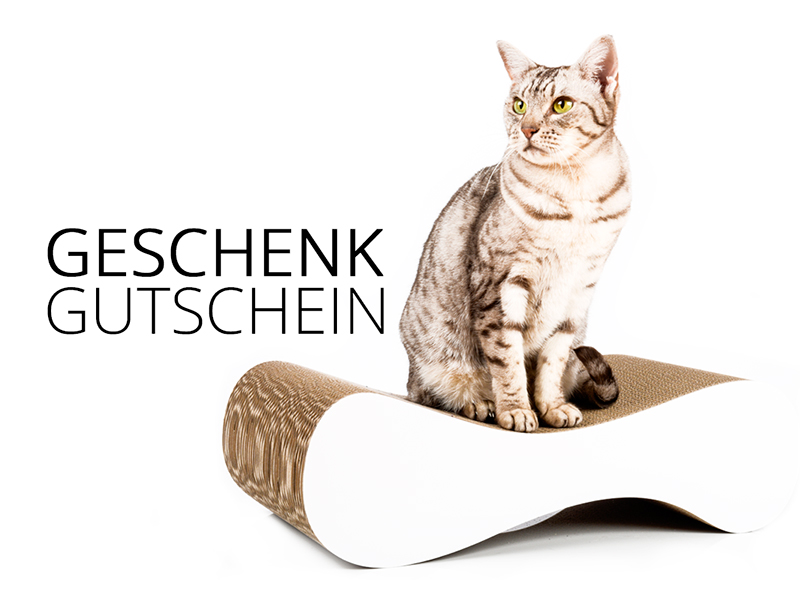 cat-on gift voucher - value 75,00 € | cardboard cat scratchers