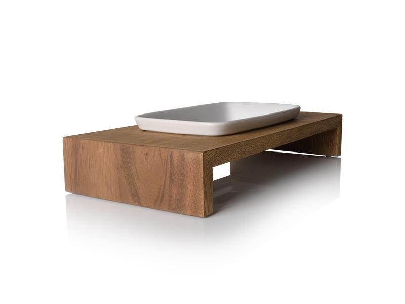 Siam feeding bowl in teak wood