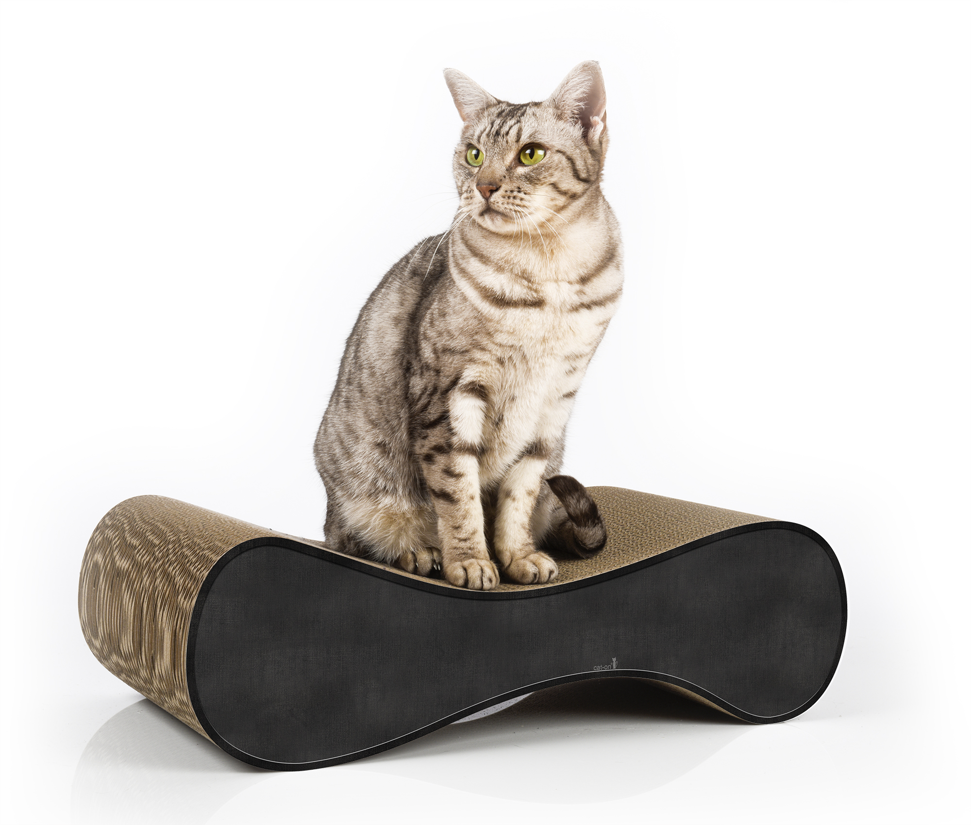 Medium cat scratcher Le Ver S - color: 013 - black - anthracite