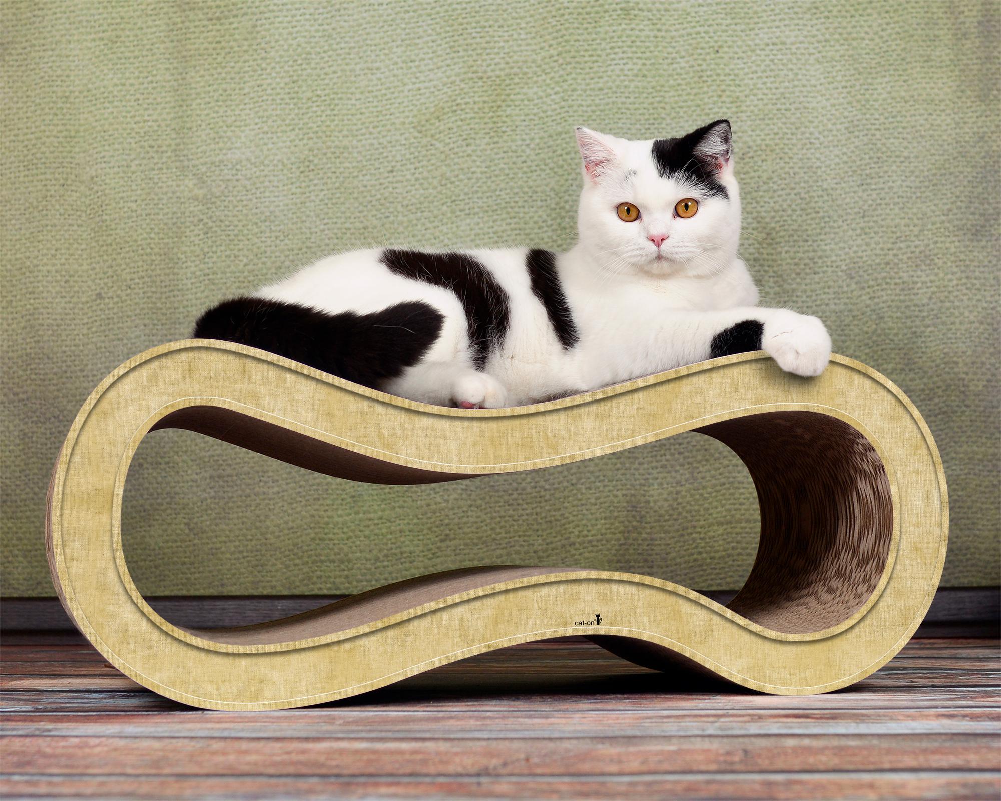 Design Katzenmöbel aus Wellpappe Singha M - Farbe: 005 sand