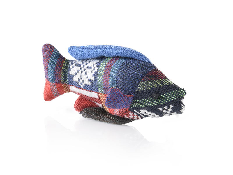 cat toy Cotton-Fish with valerian filling