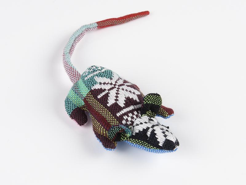 Stoffmaus Katzenspielzeug Baumwollmaus mit Baldrianwurzel und Watte gefüllt