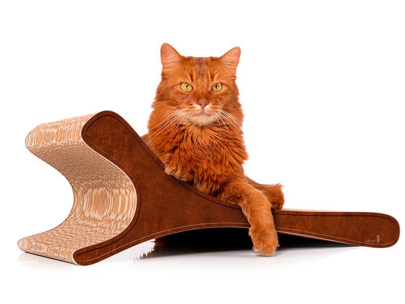 Kratzbrett cat-on Feline 002b - Kratzmöbel aus Wellpappe
