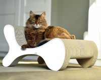 White cat scratcher Molecular Fauteuil - 000