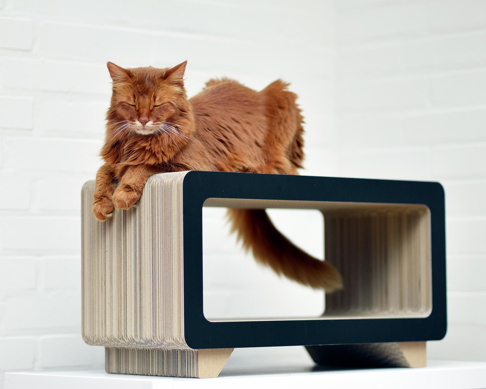 La Tele Design Katzen Kratzmöbel aus Wellpappe Made in Germany