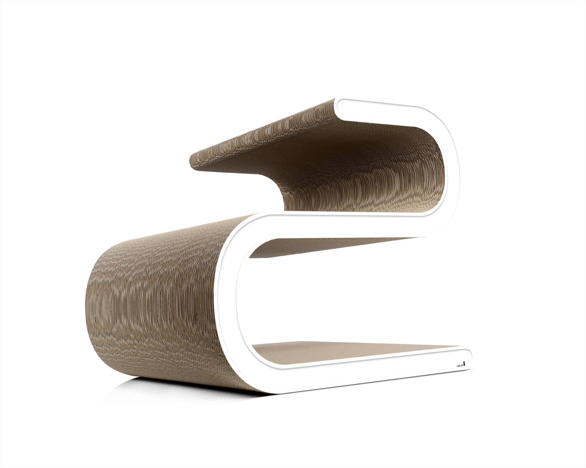 Design scratch post Ligne S in white
