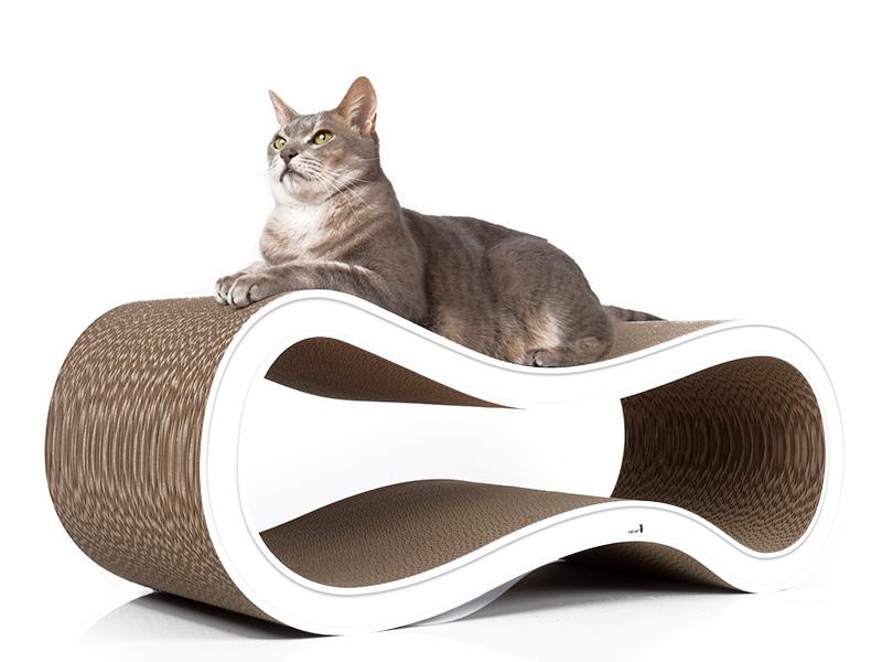 Kratzbaum für Katzen aus Wellpappe | cat-on Singha L