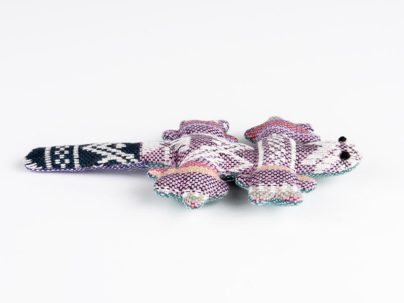 Katzenspielzeug Gekko aus Baumwolle mit Baldrian Füllung
