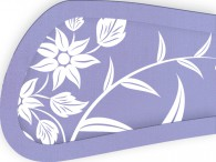 004D-Azië witte bloemen op lila