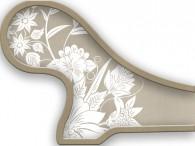 019B-Azië witte bloemen op donker-beige