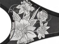 0020-Azië grijze bloemen op zwart