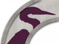 0025-Azië paarse kraanvogel op licht beige