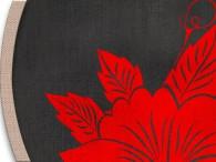 0008-Azië rode bloemen op zwart, lichte rand