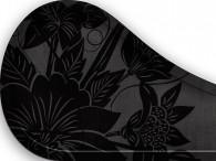 013B-Azië zwarte bloemen op zwart