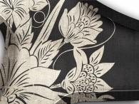 0015-Azië zilveren bloemen op zwart