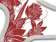 016B-Azië rode bloemen op wit