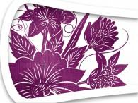 016D-Azië paarse bloemen op wit